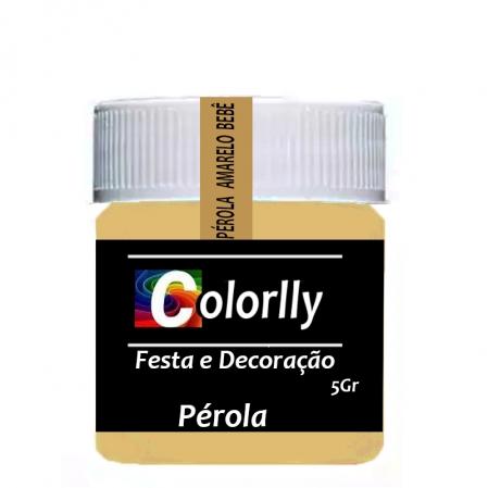 PÓ PÉROLA AMARELO BEBÊ 5G COLORLLY