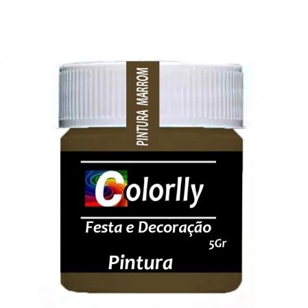 PÓ PINTURA MARROM 5G COLORLLY