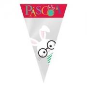 SACO DE CONE PÁSCOA CORES 18X30 C/ 50UN CROMUS