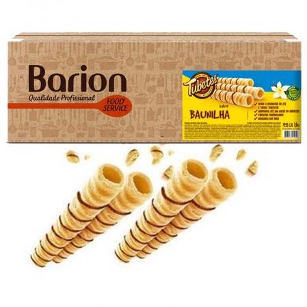 TUBETES ROLINHO WAFER SABOR BAUNILHA GRANEL 1KG BARION