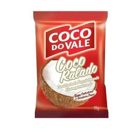 COCO RALADO DESIDRATADO PARCIALMENTE DESENGORDURADO COCO DO VALE 1KG