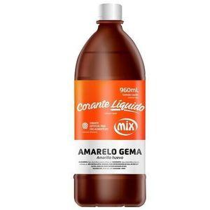 CORANTE LÍQUIDO AMARELO GEMA 960ML MIX