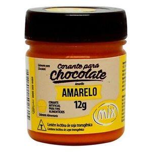 CORANTE PARA CHOCOLATE EM GEL AMARELO 12G MIX