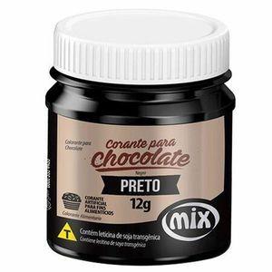 CORANTE PARA CHOCOLATE EM GEL PRETO 12G MIX
