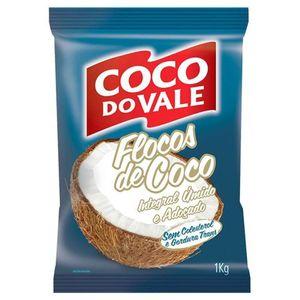FLOCOS ÚMIDO ADOCICADO COCO DO VALE 1KG