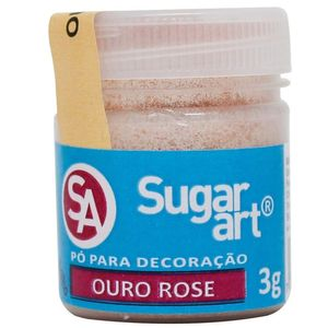 PÓ PARA DECORAÇÃO OURO ROSE 3G SUGAR ART