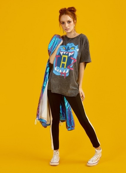 Camiseta Marmorizada Looney Tunes Taz Neon Danger