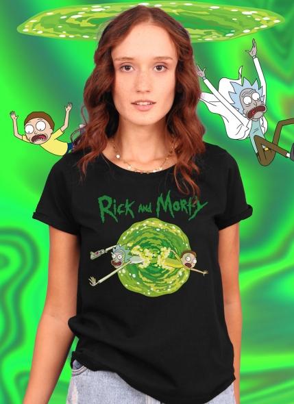 Camiseta Rick And Morty Saindo Portal