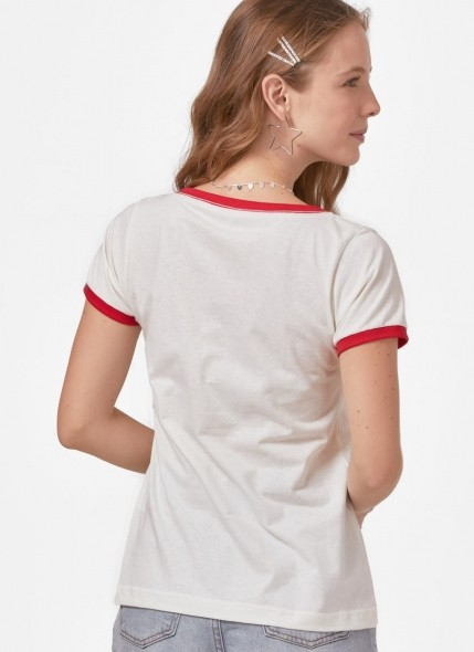 Camiseta Ringer Friends Hello
