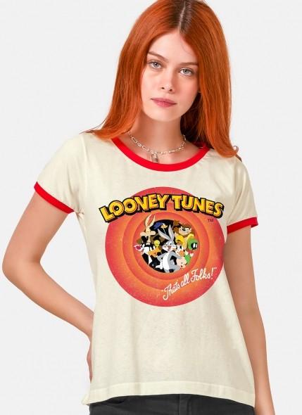 Camiseta Ringer Looney Tunes Together