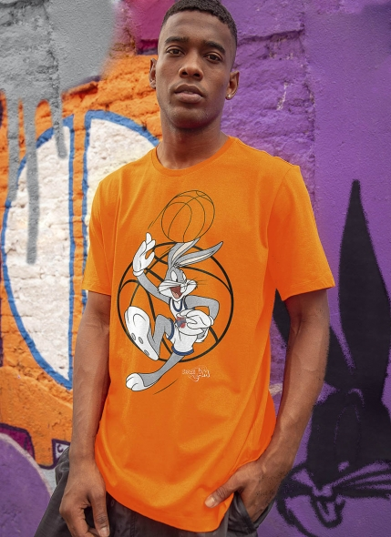 Camiseta Space Jam Pernalonga Playing
