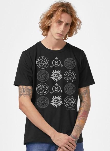 Camiseta Supernatural Pentagramas
