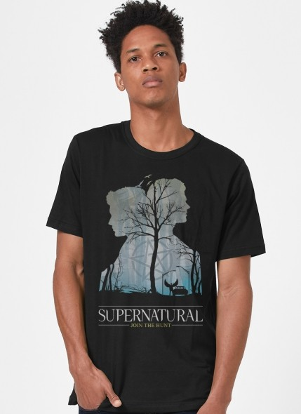 Camiseta Supernatural Silhueta