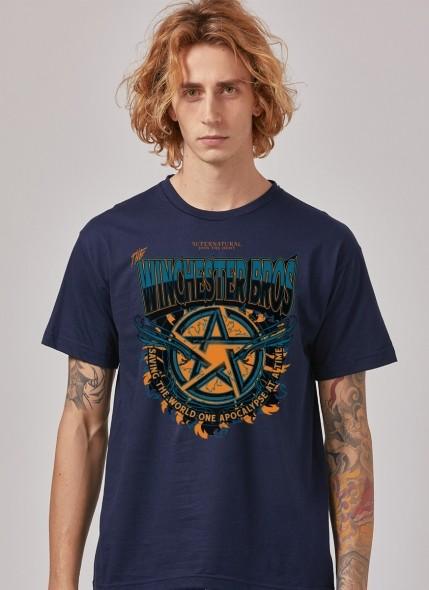 Camiseta Supernatural Winchester Bros Colors