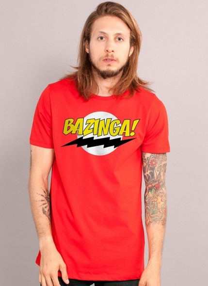 Camiseta The Big Bang Theory Bazinga! Clássica