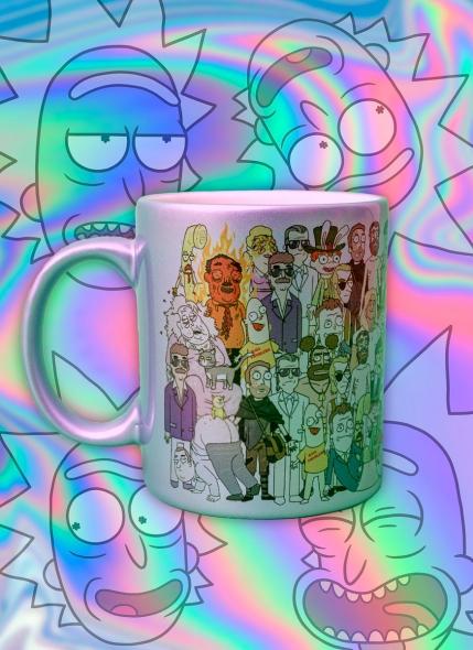 Caneca Rick And Morty Personagens