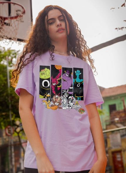 T-shirt Space Jam Quadros