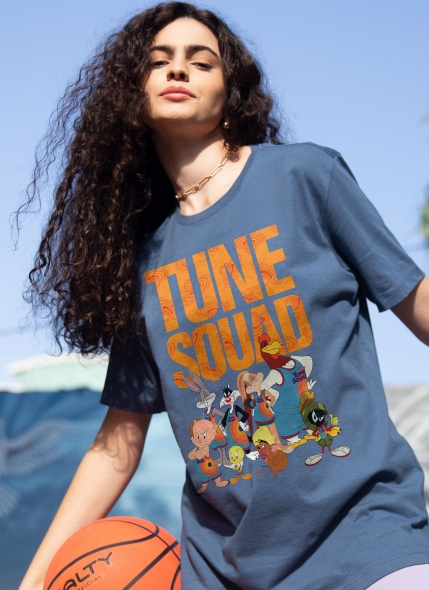 T-shirt Space Jam Tune Squad Personagens