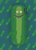 Almofada Recorte Rick And Morty Pickle Rick
