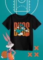 Camiseta Infantil Space Jam Pernalonga Bugs