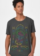 Camiseta Looney Tunes Marvin Neon