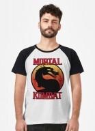 Camiseta Raglan Mortal Kombat Logo