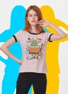 Camiseta Ringer Friends Central Perk Ícones
