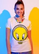 Camiseta Ringer Looney Tunes Piu-Piu Rostinho