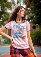 Camiseta Ringer Space Jam Pernalonga Basket
