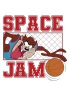 Camiseta Ringer Space Jam Taz Basket