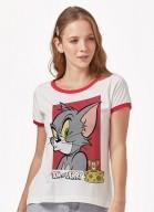 Camiseta Ringer Tom e Jerry