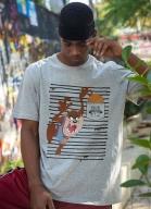 Camiseta Space Jam Taz Listras