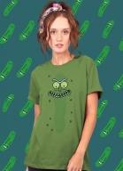 Combo 2 Rick And Morty Pickle Rick + Almofada + Camiseta + Copo