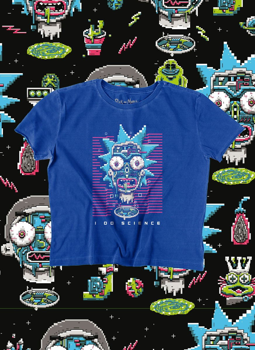 Camiseta Box Rick And Morty Science