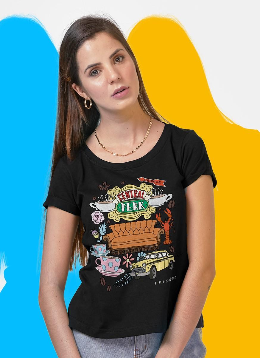 Camiseta Friends Central Perk Ícones