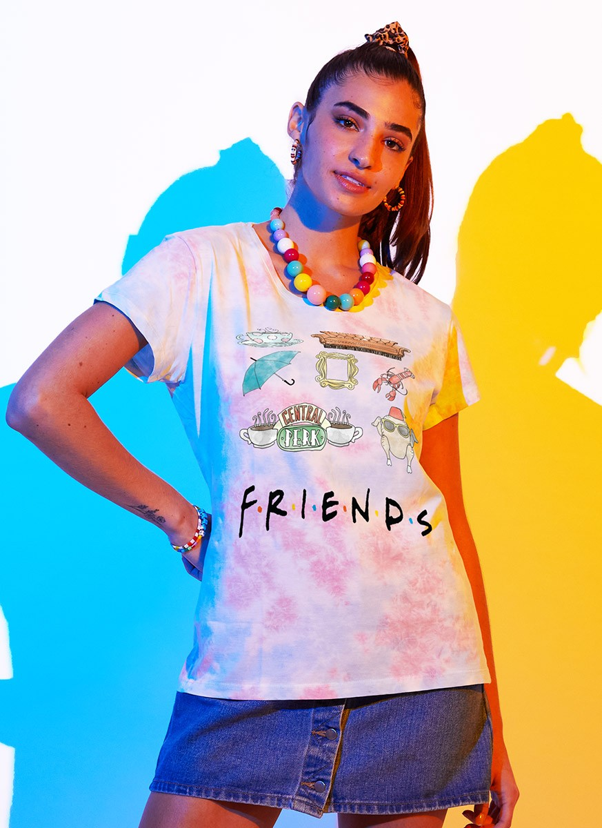 Camiseta Friends Central Perk Stickers
