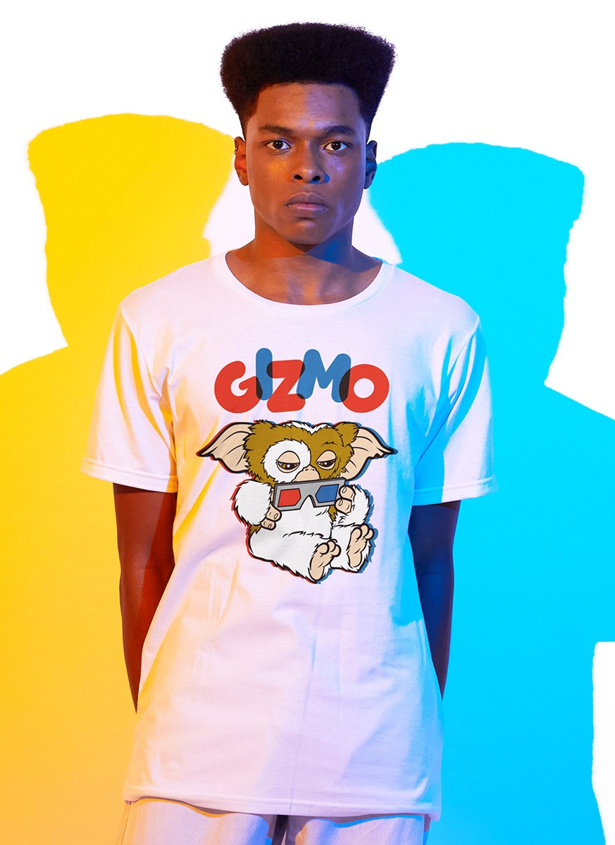 Camiseta Gremlins Gizmo Óculos 3D