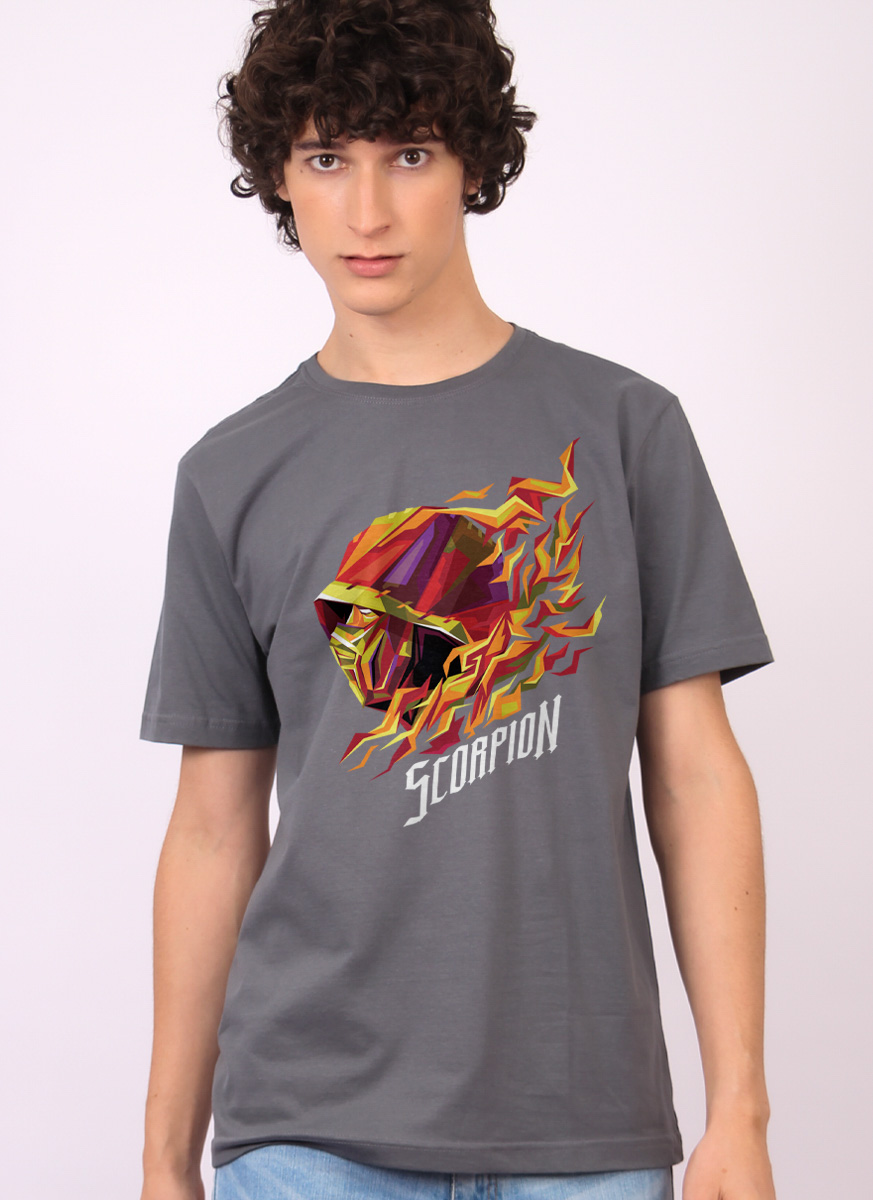 Camiseta Mortal Kombat Scorpion Perfil
