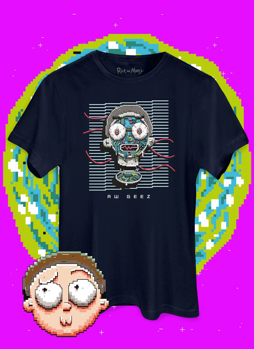 Camiseta Rick And Morty Aw Geez