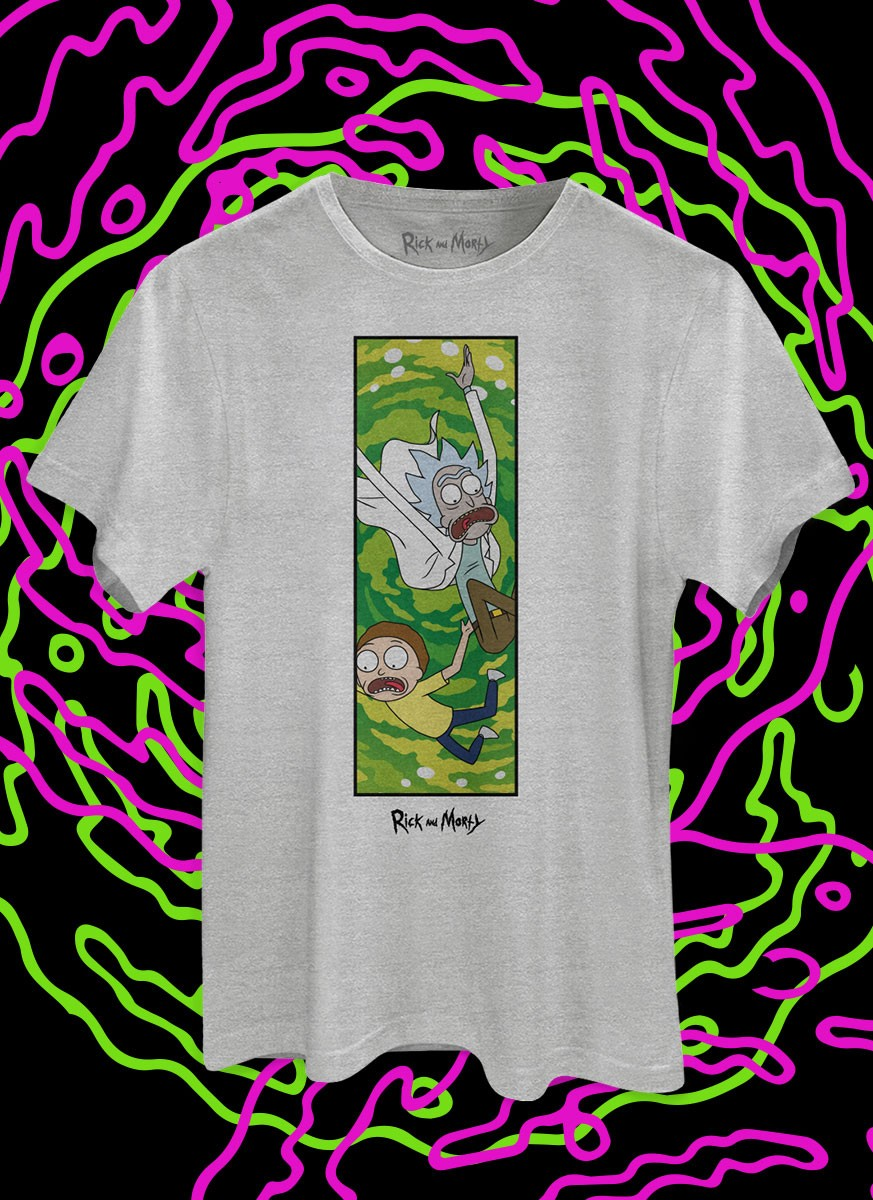 Camiseta Rick And Morty Caindo