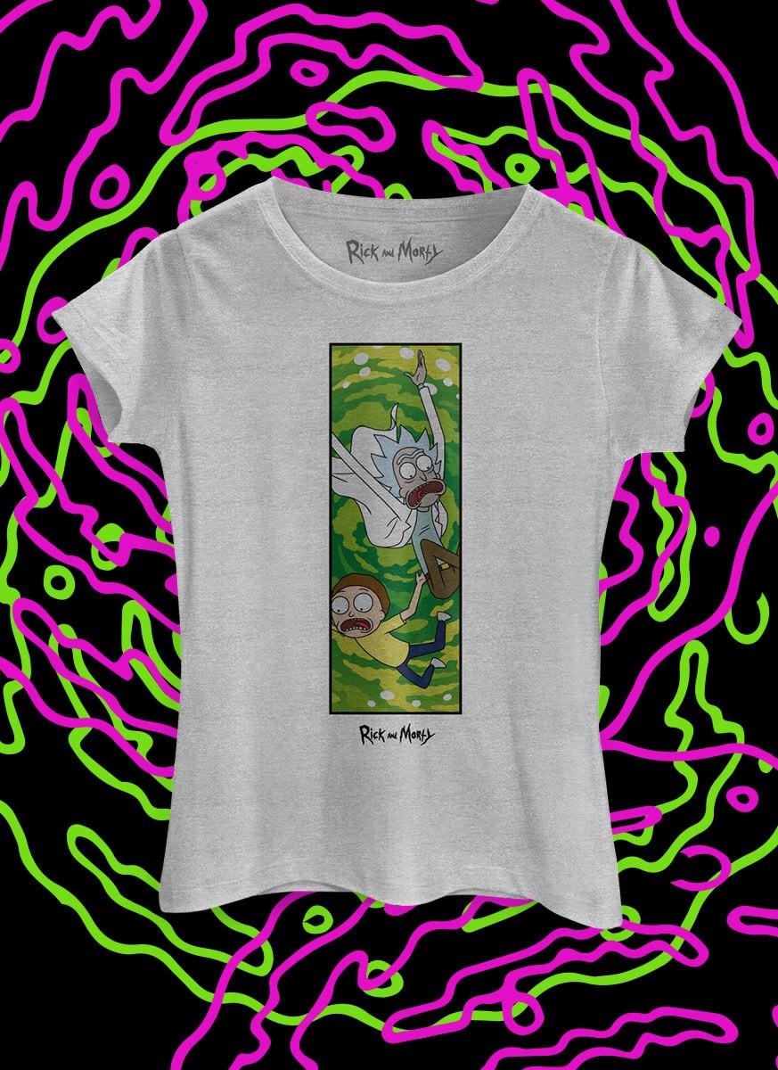 Camiseta Rick And Morty Caindo