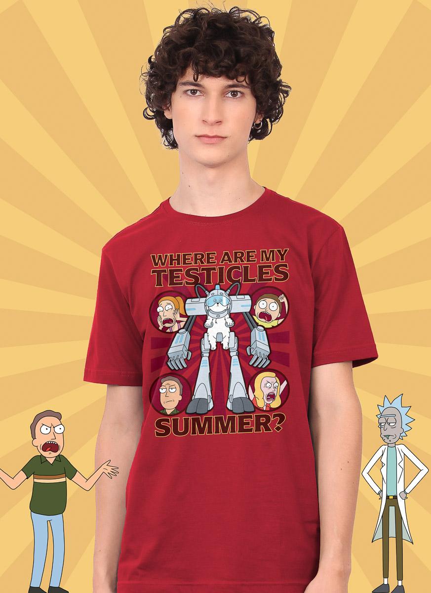 Camiseta Rick And Morty Summer Onde Estão Meus Testículos?