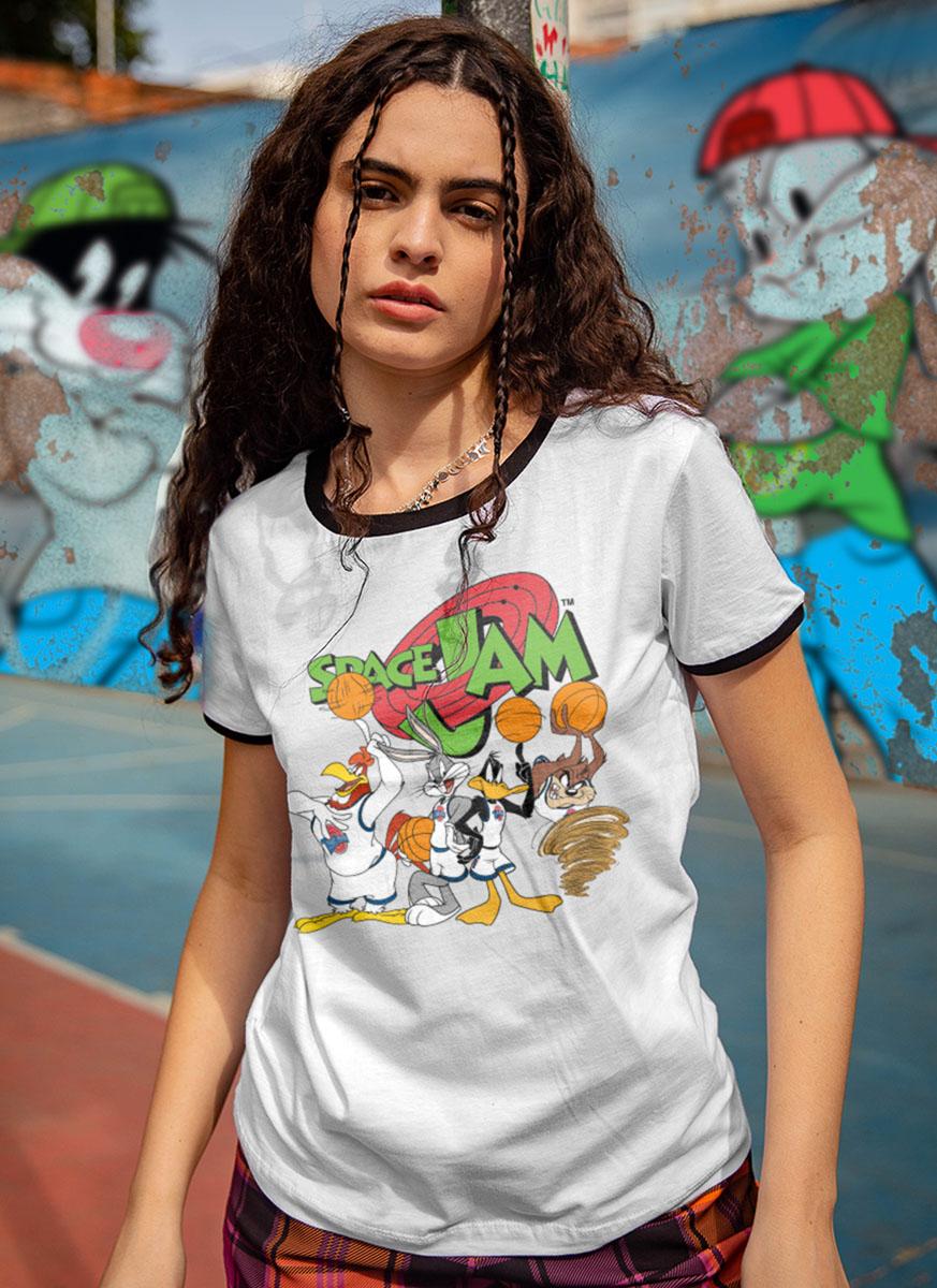 Camiseta Ringer Equipe Space Jam