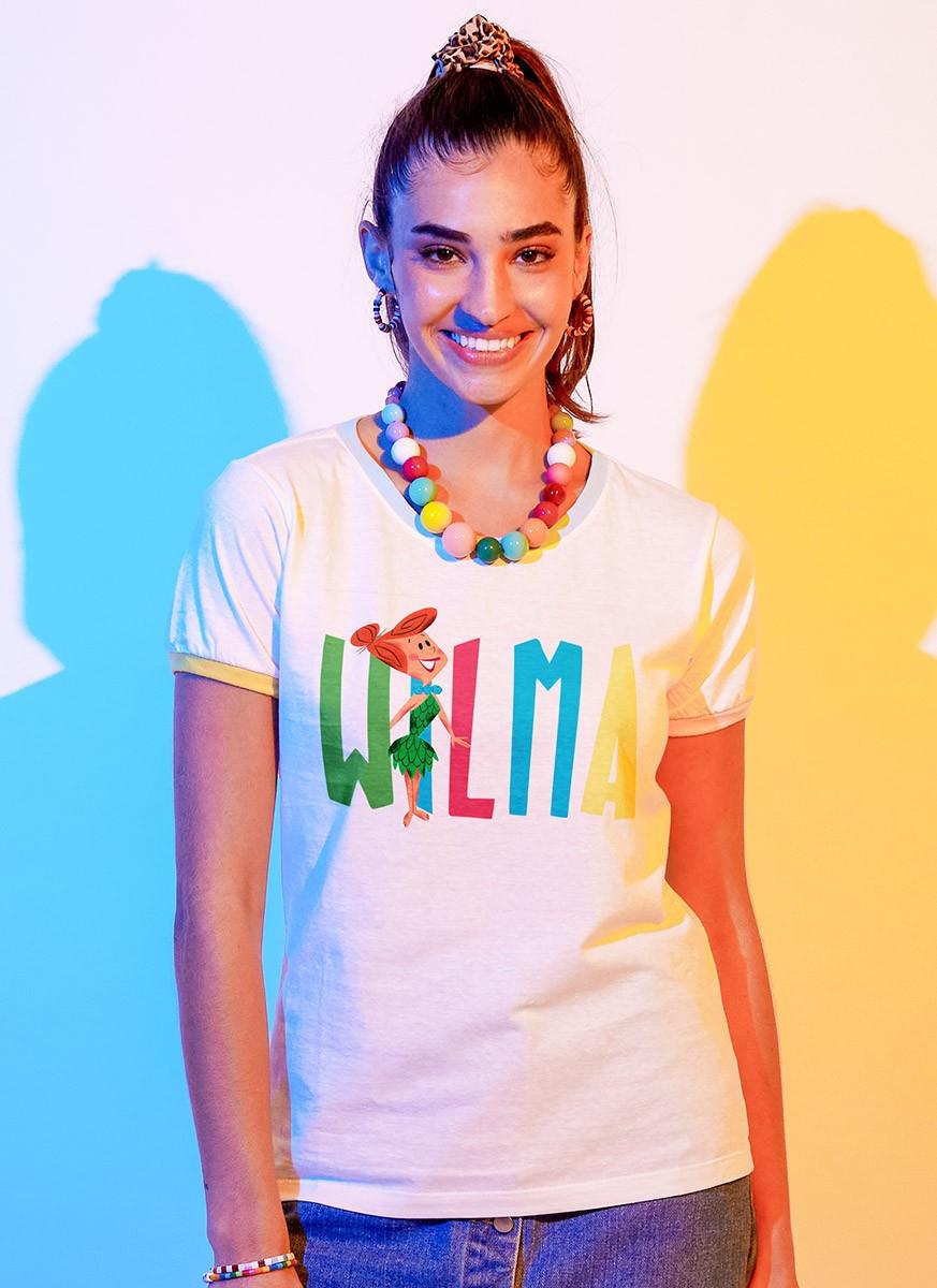 Camiseta Ringer Feminina Os Flintstones Wilma