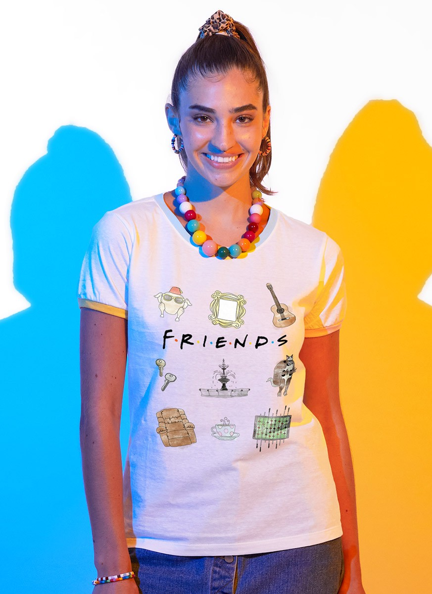 Camiseta Ringer Tricolor Friends Elements