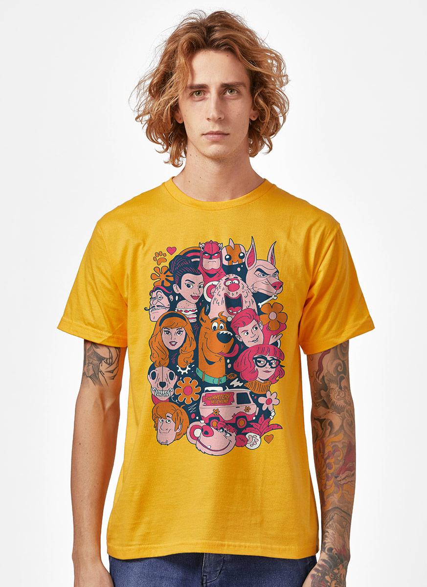 Camiseta Scooby! Personagens Tropicais