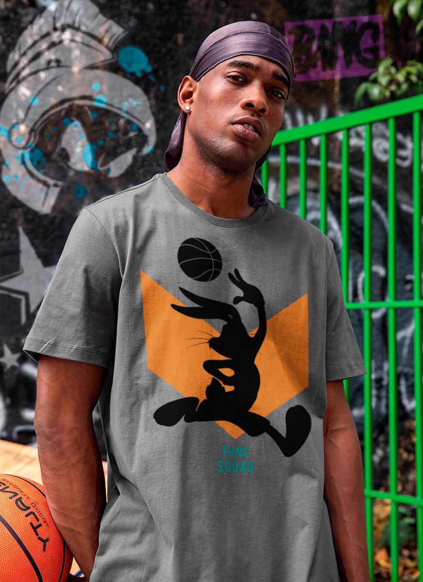 Camiseta Space Jam Pernalonga Silhueta