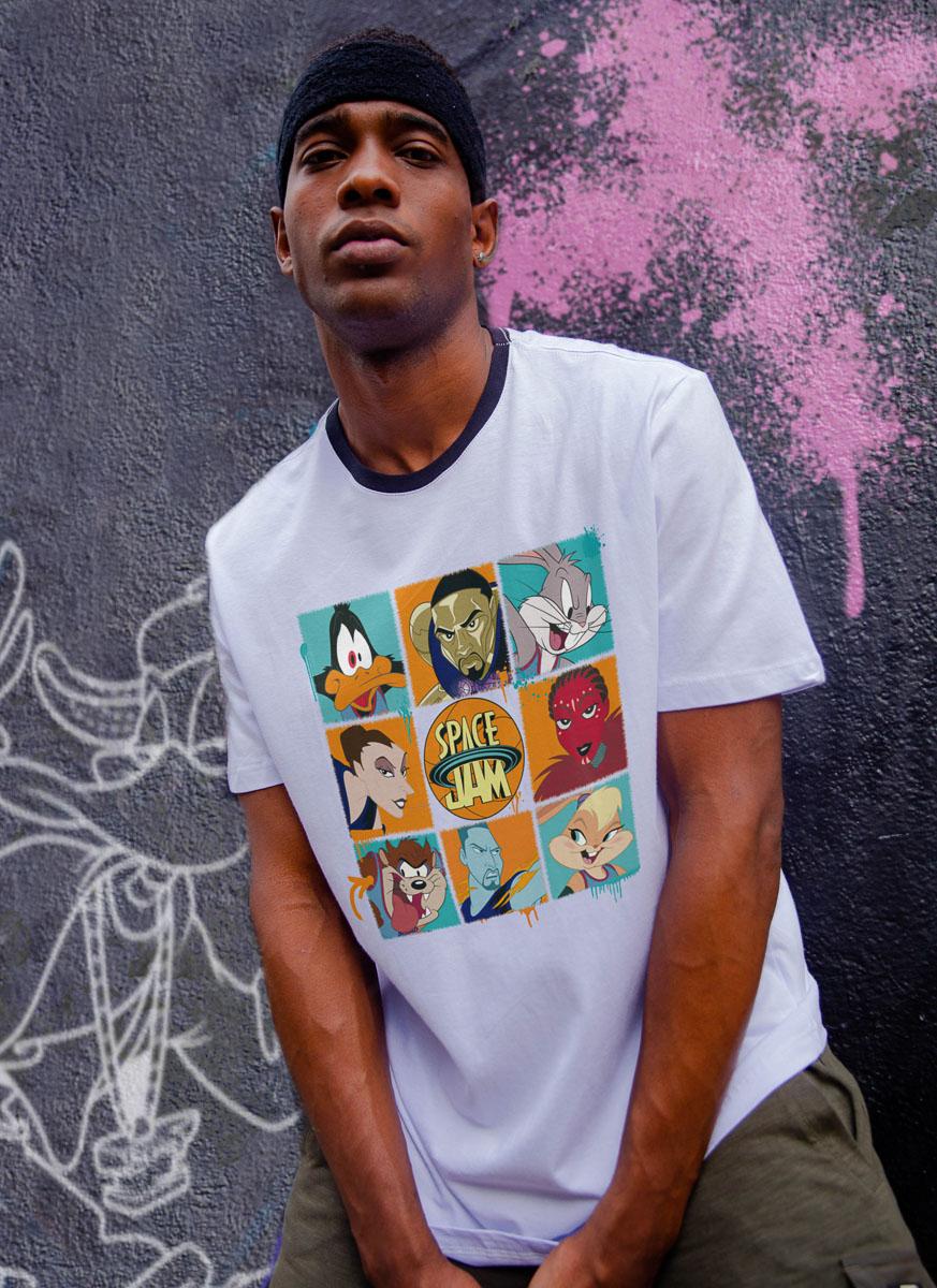Camiseta Space Jam Personagens