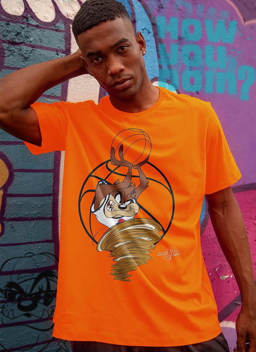Camiseta Space Jam Taz Tornado