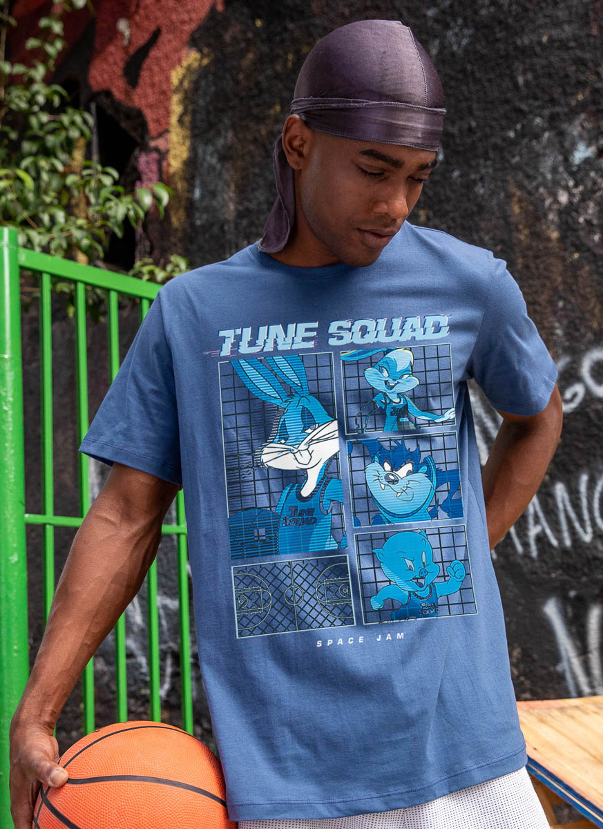 Camiseta Space Jam Tune Squad Quadra
